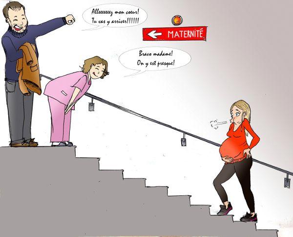 arrivée maternité